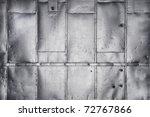 metal panels on industrial door ... | Shutterstock . vector #72767866