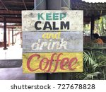 retro coffee signs from bali | Shutterstock . vector #727678828