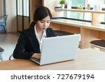 young asian business woman... | Shutterstock . vector #727679194