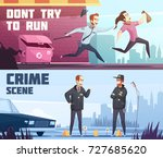two horizontal banners on... | Shutterstock .eps vector #727685620