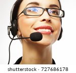 portrait of smiling customer... | Shutterstock . vector #727686178