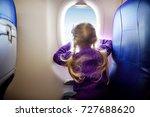 adorable little girl traveling...   Shutterstock . vector #727688620