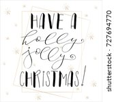 lettering with merry christmas. ... | Shutterstock .eps vector #727694770