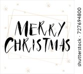 lettering with merry christmas. ... | Shutterstock .eps vector #727694800