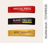 set of sale price banner and... | Shutterstock .eps vector #727698520