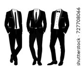wedding men's suit and tuxedo.... | Shutterstock .eps vector #727708066