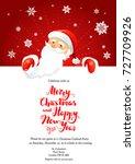 party santa winter card | Shutterstock .eps vector #727709926