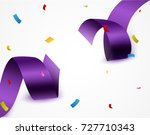 purple ribbon background with... | Shutterstock .eps vector #727710343