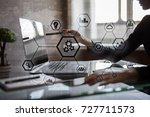 iot and automation concept as... | Shutterstock . vector #727711573