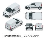 small van car. isolated vehicle ... | Shutterstock .eps vector #727712044