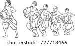 vector art drawing of woman... | Shutterstock .eps vector #727713466