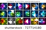 mega collection of cosmic... | Shutterstock .eps vector #727714180