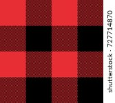 red and black tartan plaid... | Shutterstock .eps vector #727714870