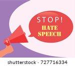 stop hate speech speech bubble... | Shutterstock .eps vector #727716334