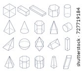 set of 3d geometric shapes.... | Shutterstock . vector #727719184