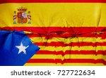 two flag. spain   catalonia.  | Shutterstock . vector #727722634