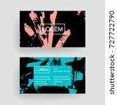 set of vector business card... | Shutterstock .eps vector #727722790