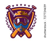motocross helmet badge | Shutterstock .eps vector #727724659