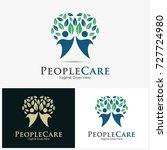 people care logo design... | Shutterstock .eps vector #727724980
