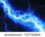 blue lightning  plasma and... | Shutterstock . vector #727732804