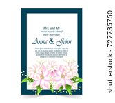 invitation card  wedding card... | Shutterstock .eps vector #727735750