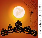 halloween background for your... | Shutterstock .eps vector #727737658