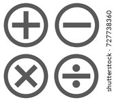 calculator icon set in circle... | Shutterstock .eps vector #727738360