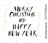 lettering with merry christmas. ... | Shutterstock .eps vector #727749214