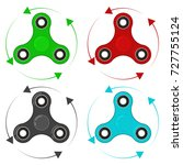 set of four hand spinners in...   Shutterstock .eps vector #727755124