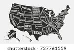 united states of america map.... | Shutterstock .eps vector #727761559