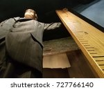 tall man with ruler | Shutterstock . vector #727766140