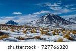 "view of the ""licancabur""...   Shutterstock . vector #727766320"