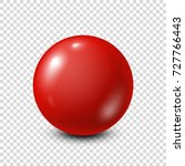 Red Lottery  Billiard Pool Ball....