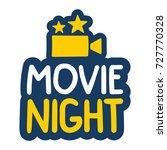 movie night. vector hand drawn... | Shutterstock .eps vector #727770328