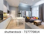contemporary apartment with... | Shutterstock . vector #727770814