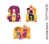 vector flat grandparents ... | Shutterstock .eps vector #727773478