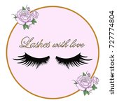 logo eyelash. lashes. a frame... | Shutterstock .eps vector #727774804