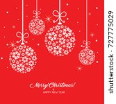 merry christmas greeting card... | Shutterstock .eps vector #727775029