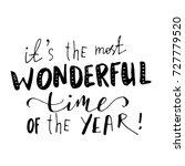 christmas hand lettering... | Shutterstock .eps vector #727779520