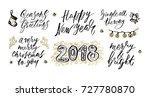 hand drawn lettering design.... | Shutterstock .eps vector #727780870