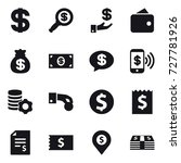 16 vector icon set   dollar ... | Shutterstock .eps vector #727781926