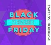abstract vector black friday... | Shutterstock .eps vector #727783918