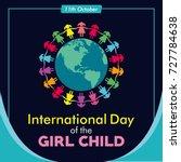 international day of the girl... | Shutterstock .eps vector #727784638