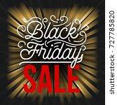 abstract vector black friday... | Shutterstock .eps vector #727785820