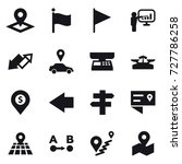 16 vector icon set   pointer ... | Shutterstock .eps vector #727786258