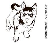 vector black and white...   Shutterstock .eps vector #727786519