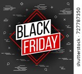 abstract vector black friday... | Shutterstock .eps vector #727787350