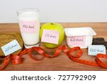 counting calories  different... | Shutterstock . vector #727792909