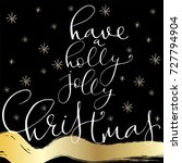 lettering with merry christmas. ... | Shutterstock .eps vector #727794904