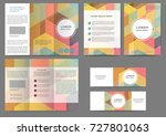 set of color abstract brochure... | Shutterstock .eps vector #727801063